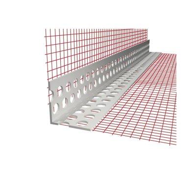 Rohový profil ETICS PVC se síťovinou